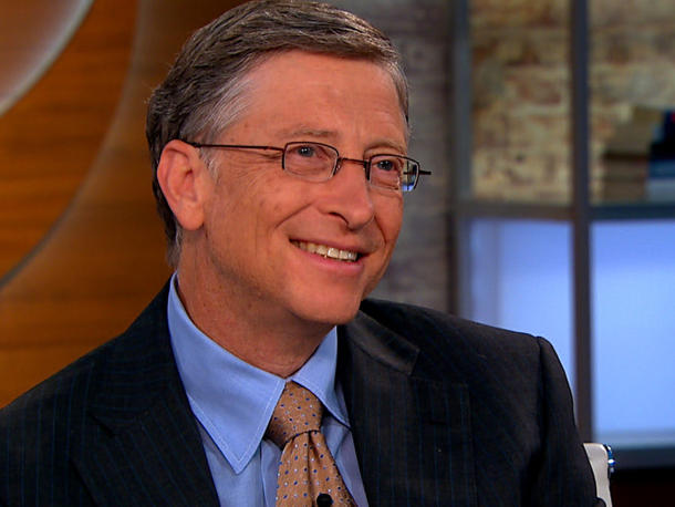 Microsoft chairman Bill Gates is the world's richest person.