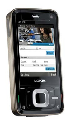 Nokia N81 with the Nokia Music Store