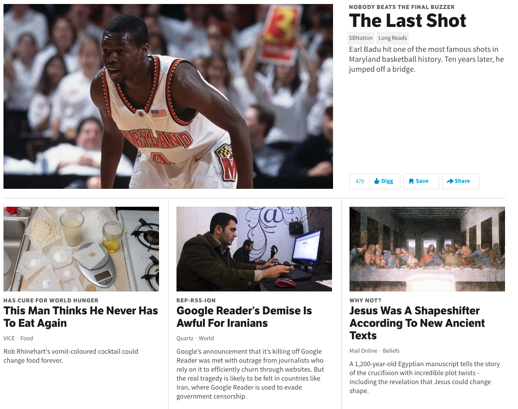 Digg says it's building a news reader.