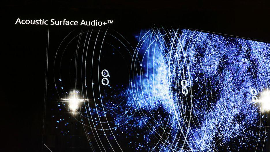 Sony Master Series A9F: Audio from the screen