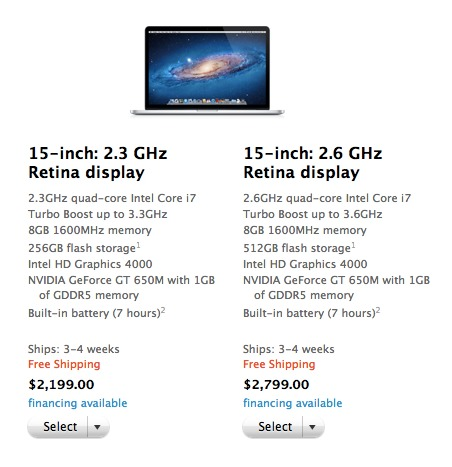 Ship times on Apple's latest MacBook.