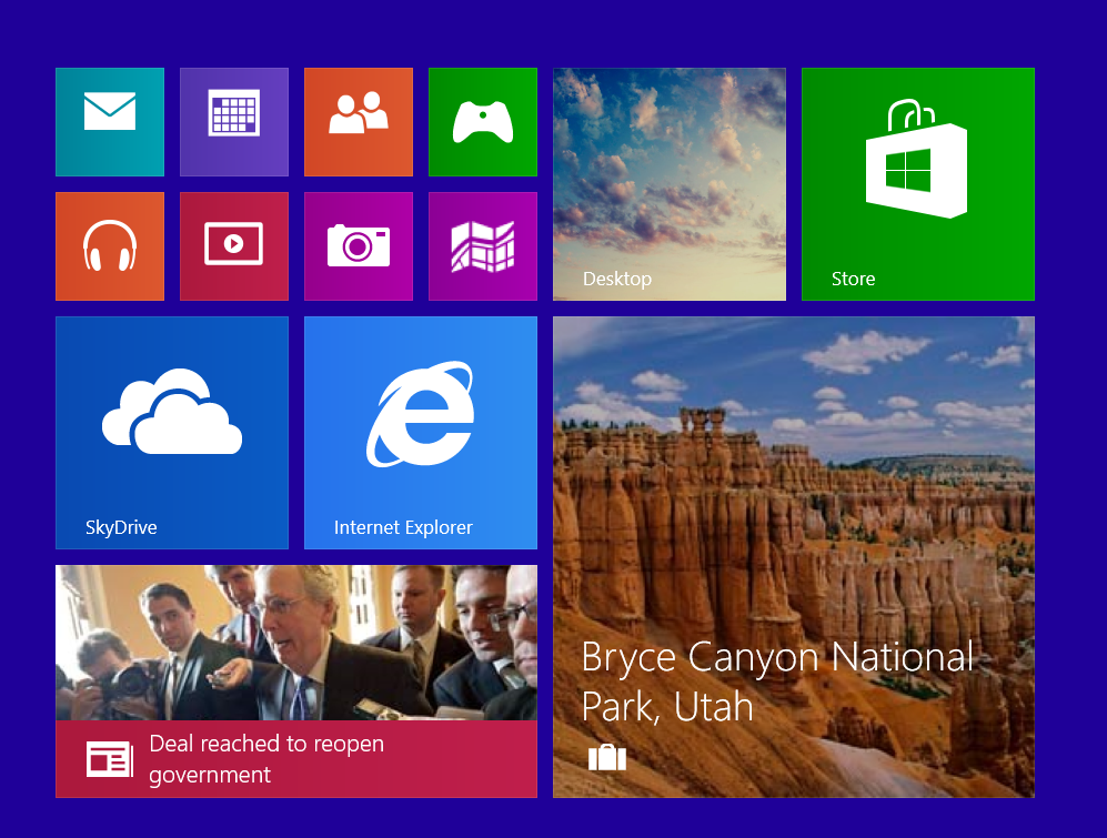 New live tiles