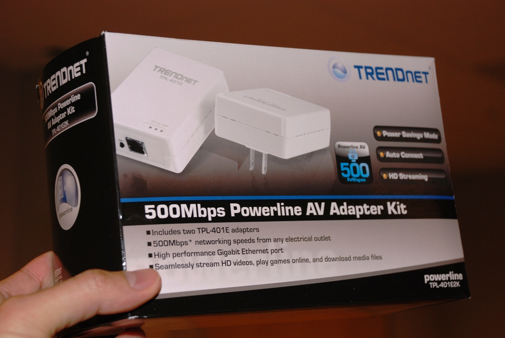 Trendnet's first 500Mbps powerline adapter kit. More of these are expected to be debuted at CES 2011.