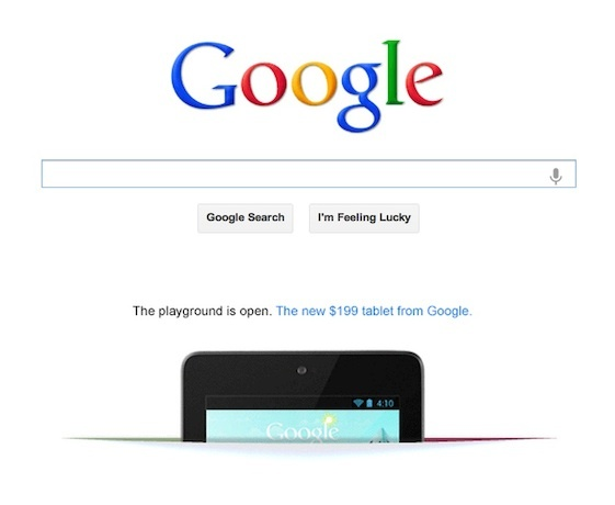 Google is getting aggressive with advertising.  A preemptive strike against the iPad Mini?