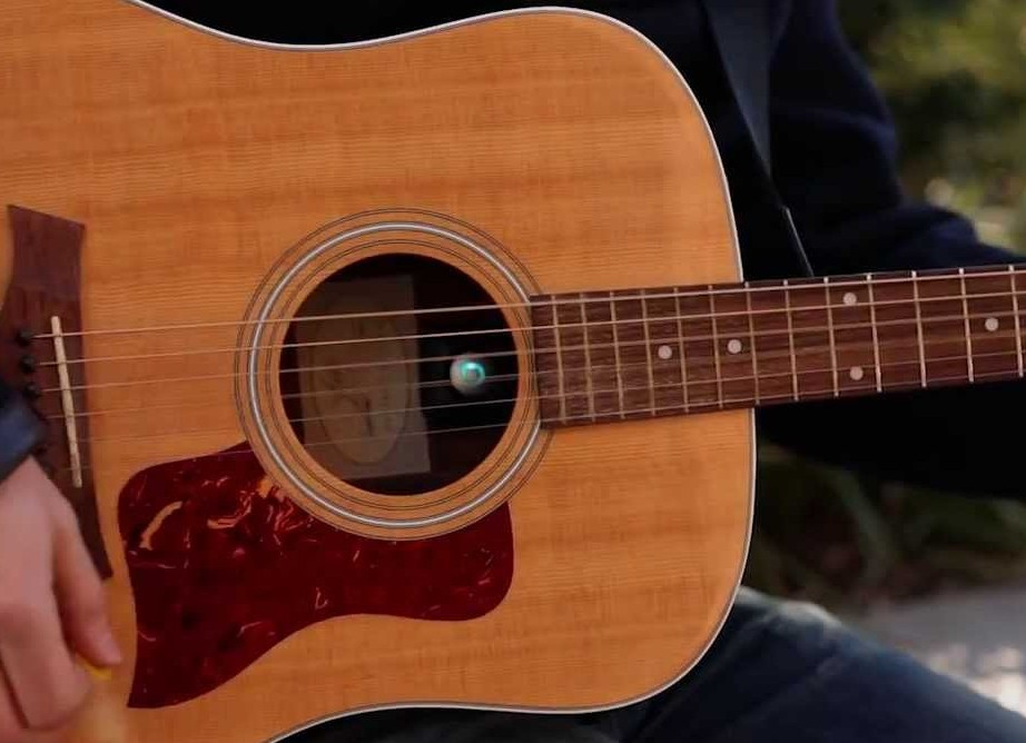 Acoustic Stream gadget in a guitar