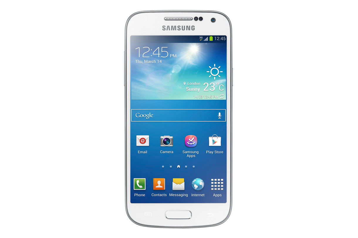 Samsung's Galaxy S4 Mini comes with a 4.3-inch Super AMOLED screen, 1.7GHz dual-core processor, and 8-megapixel camera.