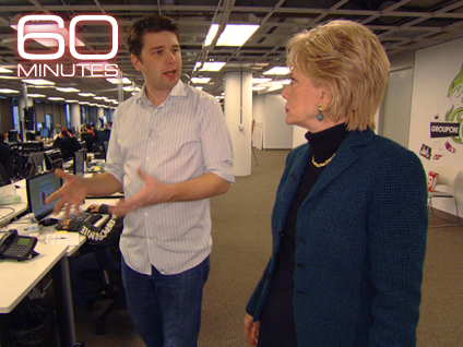 Lesley Stahl and Andrew Mason