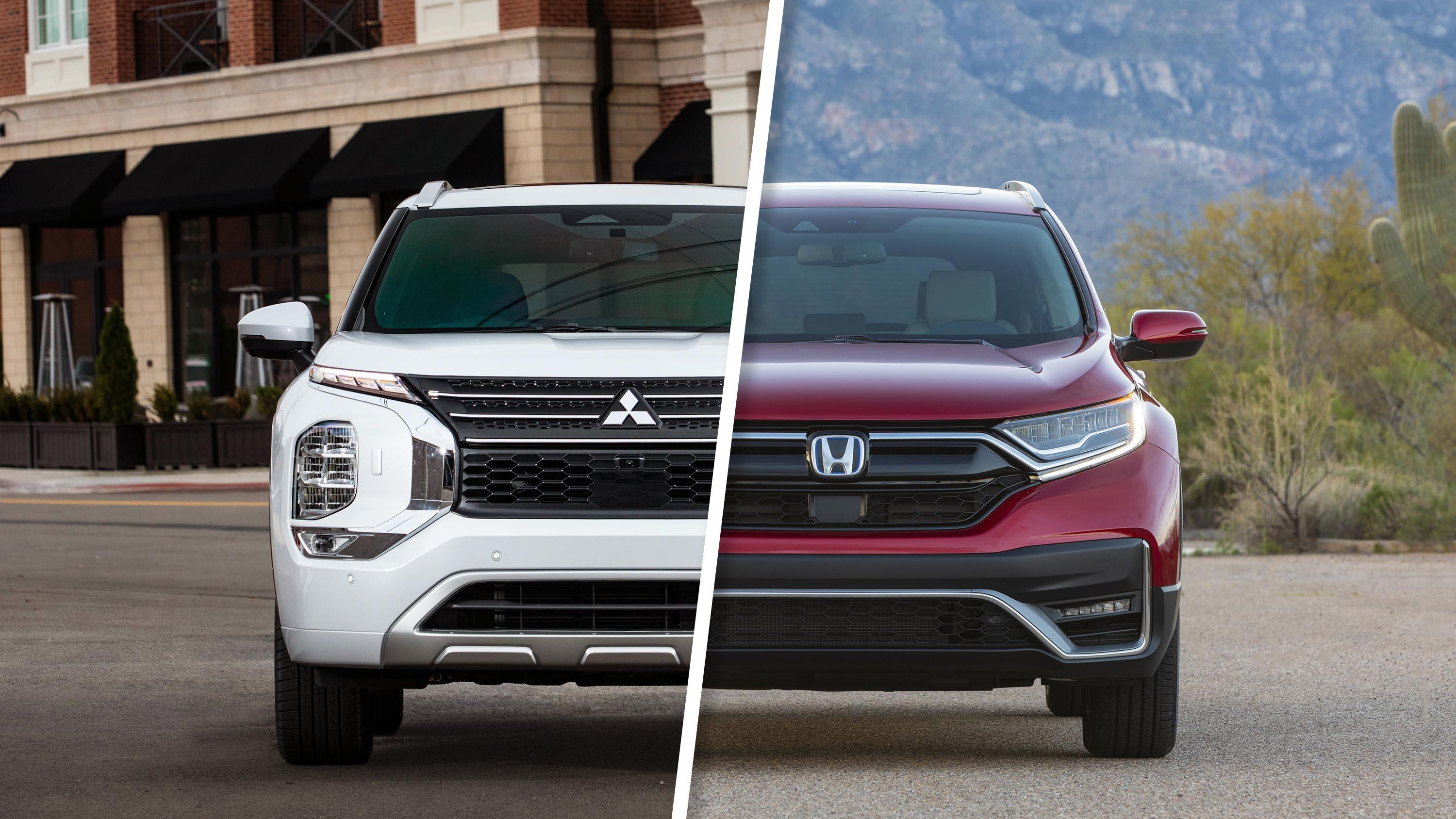 Video: 2022 Mitsubishi Outlander vs. Honda CR-V: Can it upset the leader?