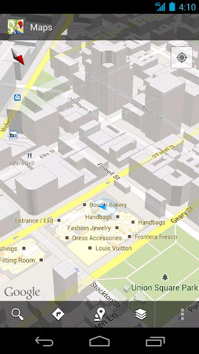 Google Maps is Android-only for now -- but maybe not for long.
