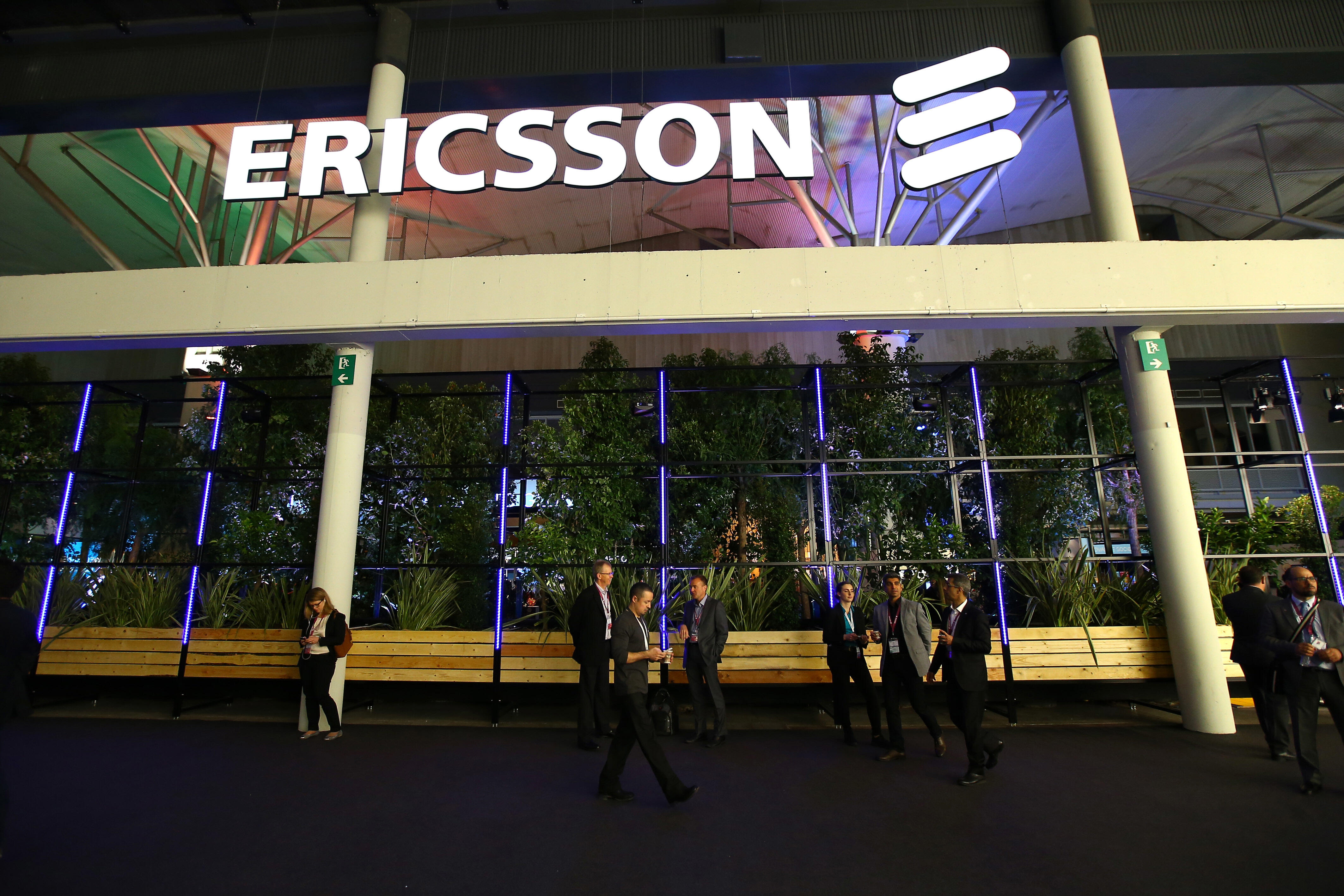 Ericsson signage on a building