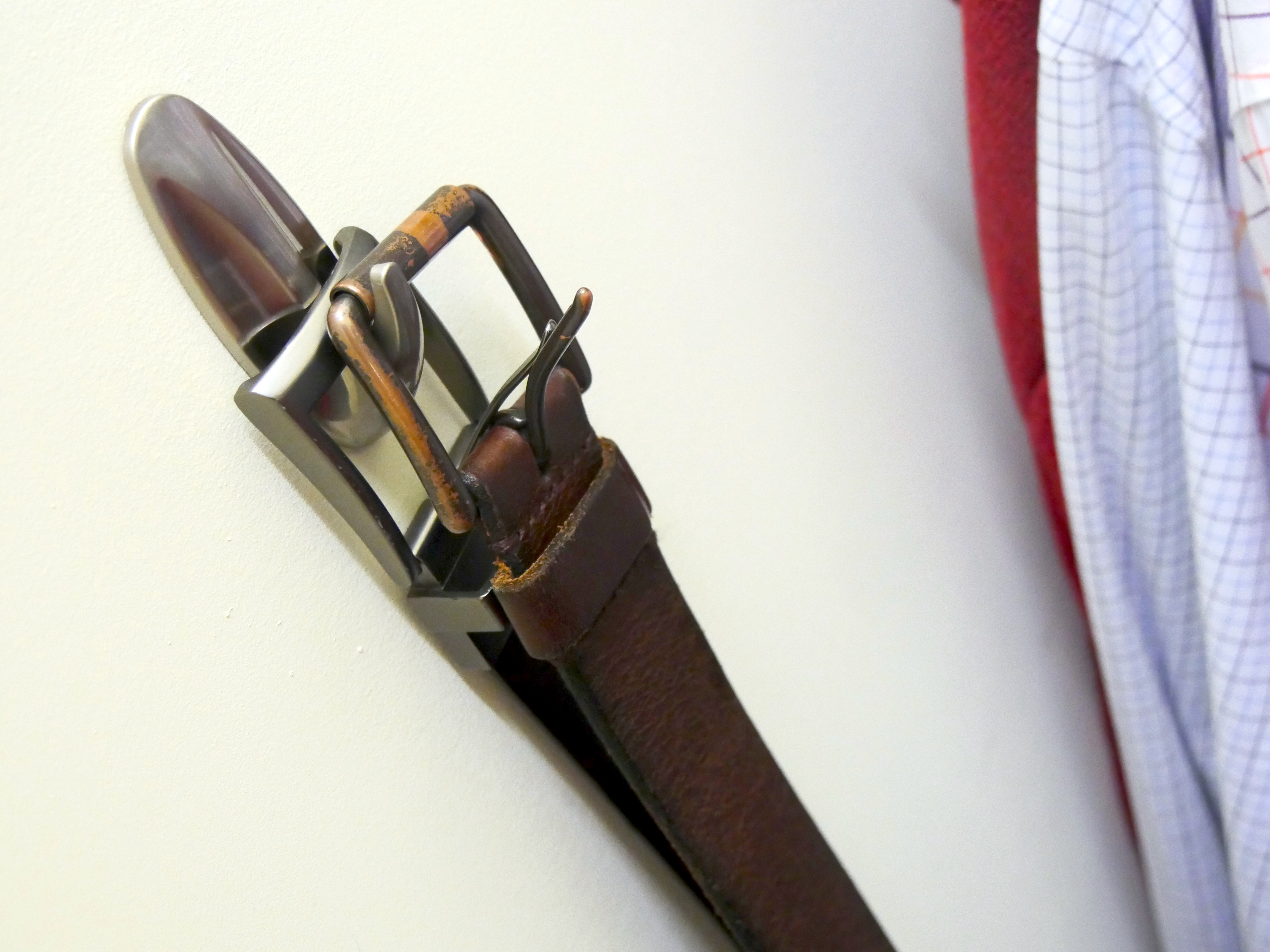 Hang belts in the closet