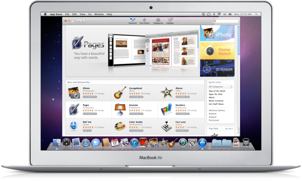 Over 100 million apps have been downloaded from the Mac App Store.