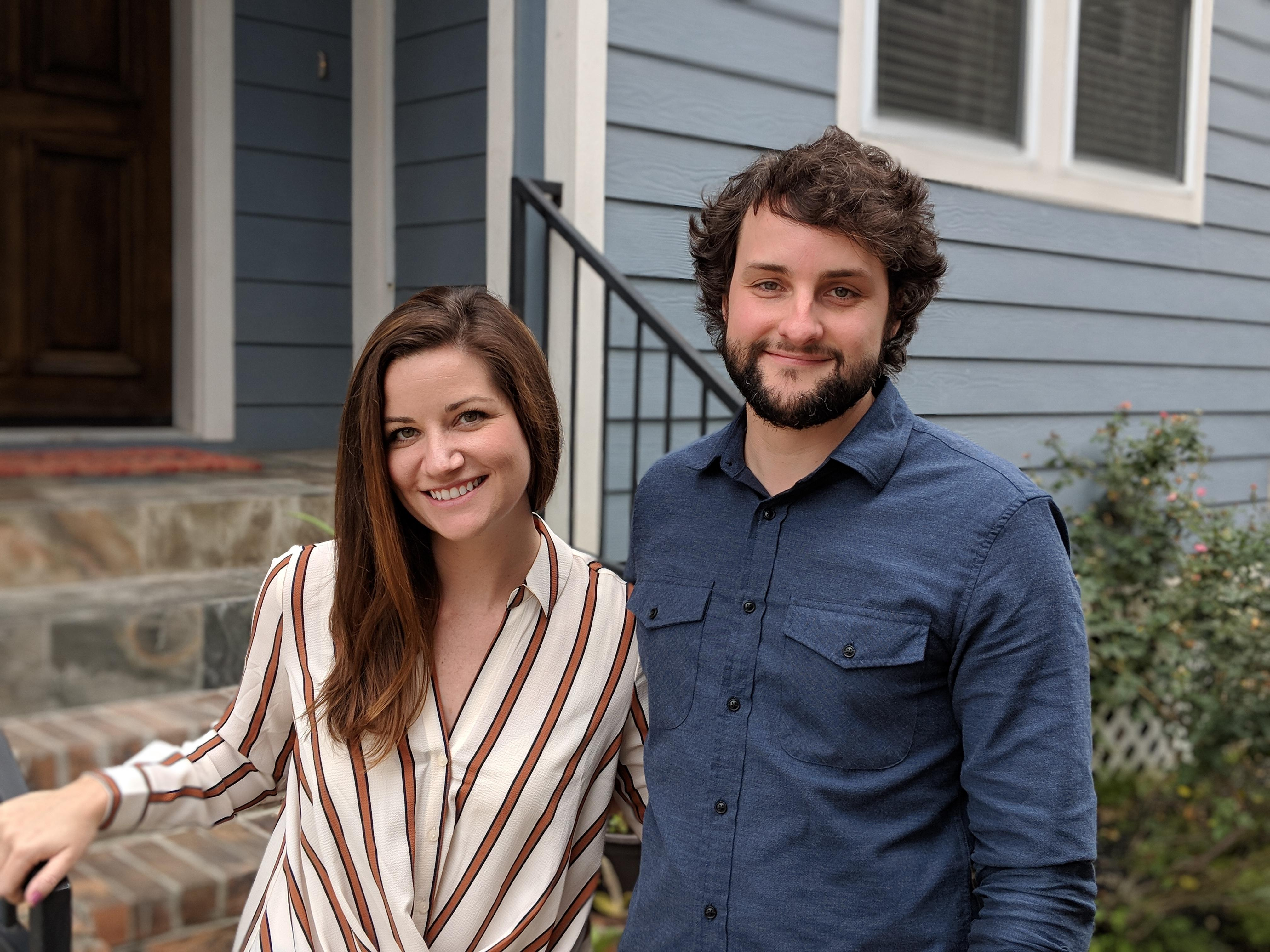 Clayton Harris, right, and his wife, Emily, were the first customers of Verizon's 5G Home service last October.