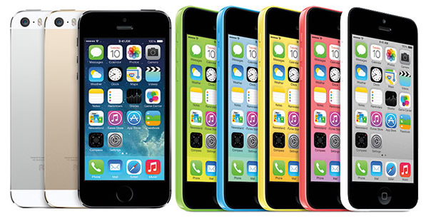 The iPhone 5S and 5C.