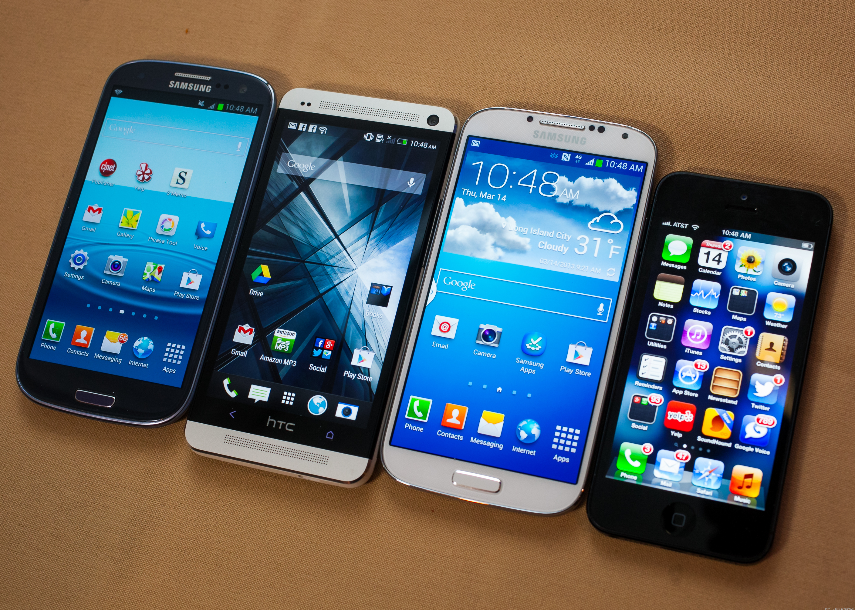 Samsung's latest devices, next to Apple in real life, not on the Twitters.