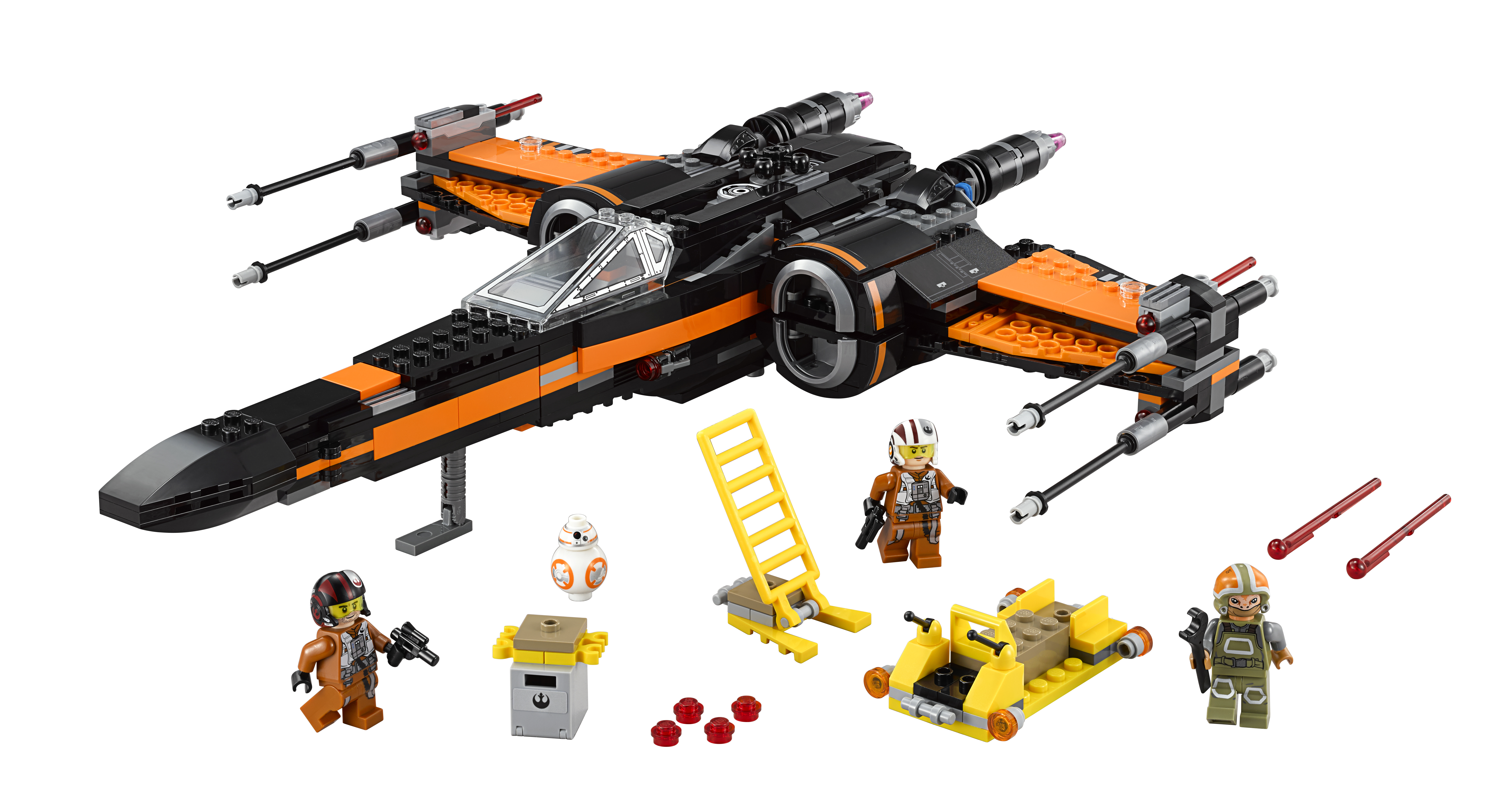 Poe's X-Wing fighter -- in Lego