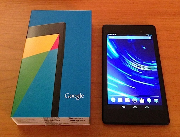 Google Nexus 7.  Google may bring out an 8.9 inch tablet later this year.