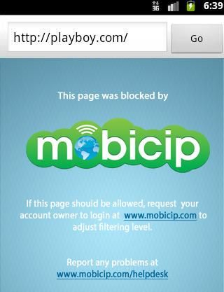 Mobicip for Android provides kid-safe Web browsing.