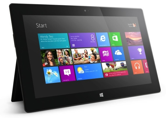 Microsoft Surface RT tablet.