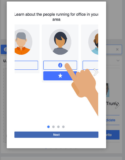 Facebook wants you to ditch pen and paper and instead use the social network's new feature to help map out how you'll vote.