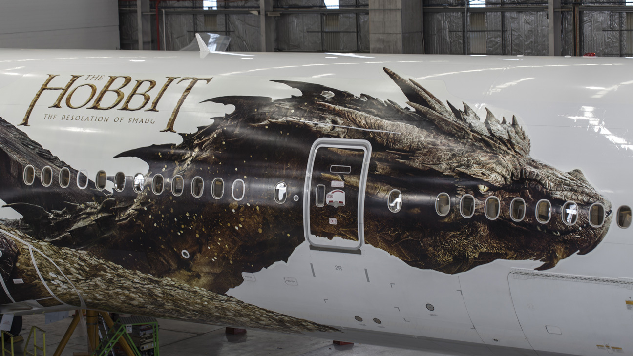 Smaug on airplane
