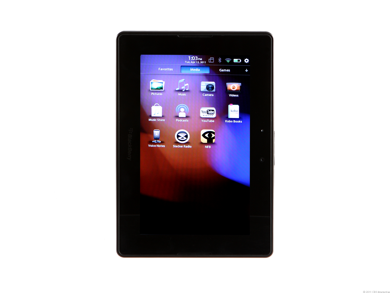 Imagine a smaller version of the BlackBerry PlayBook.