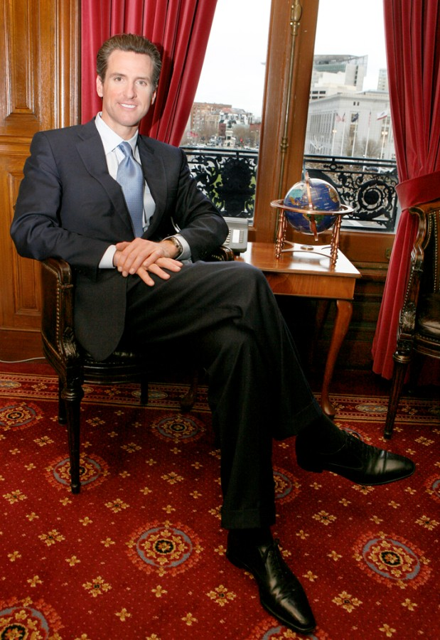 Don't believe politicians' environmental numbers, Newsom says.