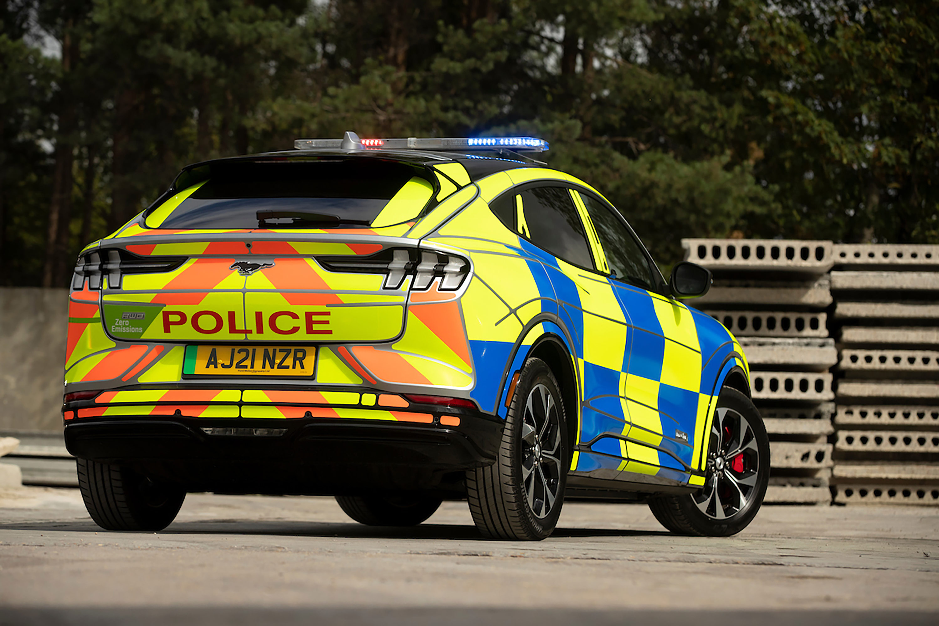 Ford Mustang Mach-E UK Police Car Concept - rear