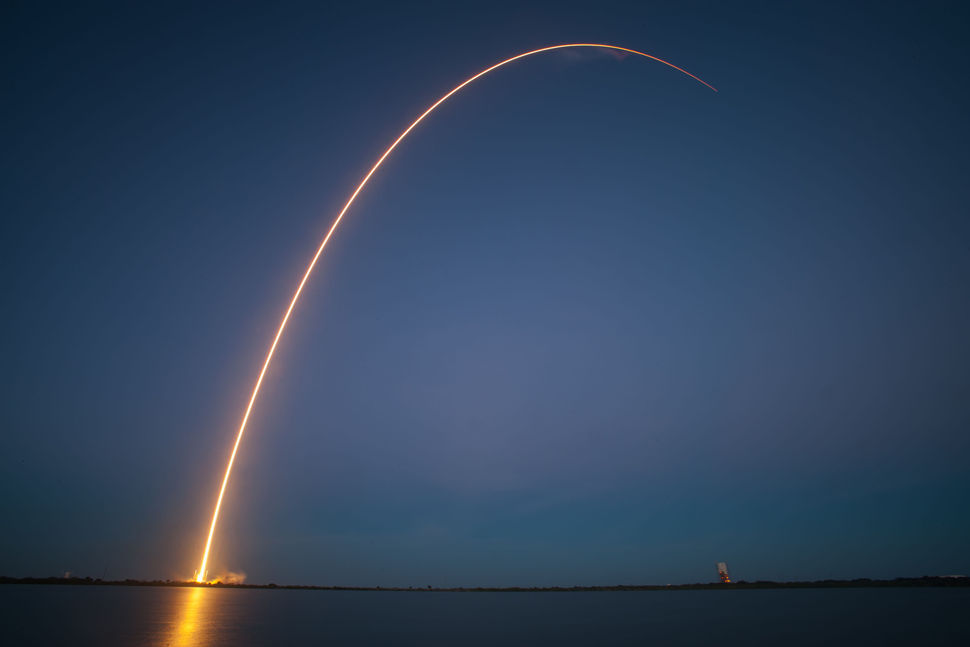 SpaceX's Falcon 9 blasts off