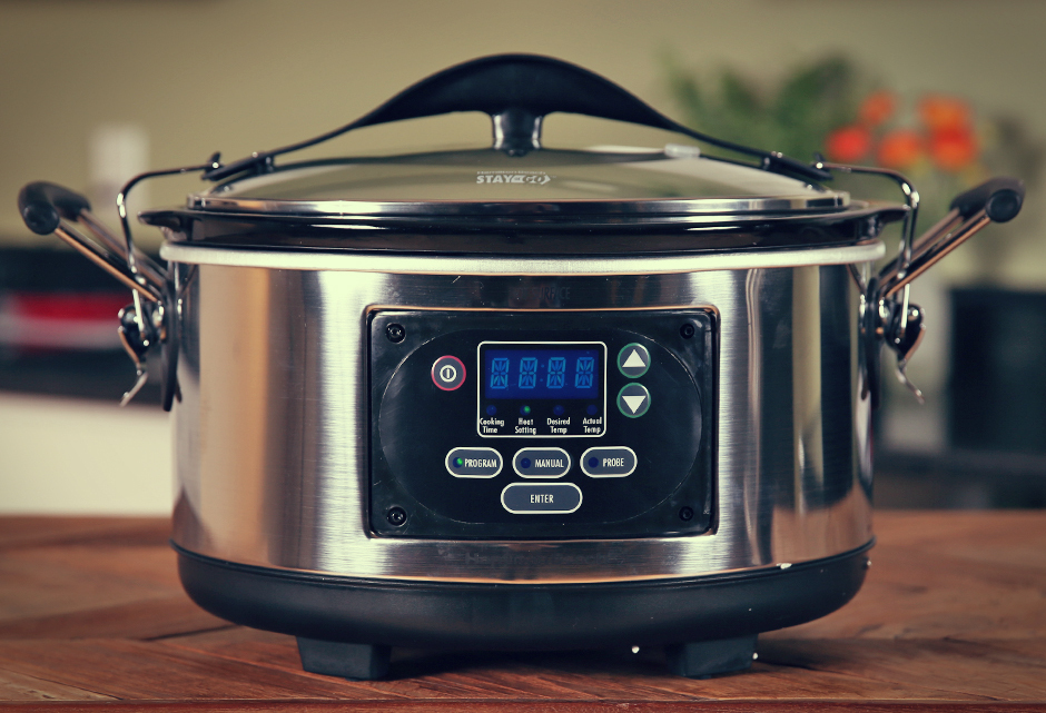 Hamilton Beach Set 'n Forget 6 Qt. Programmable Slow Cooker With Spoon/Lid