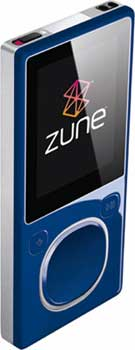 Photo of Blue Zune.