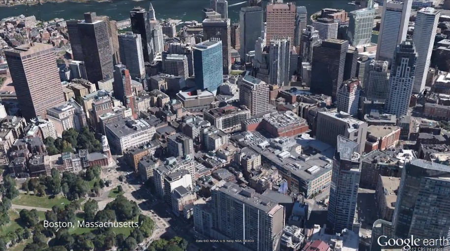 The new 3D view in the Android version of Google Earth.