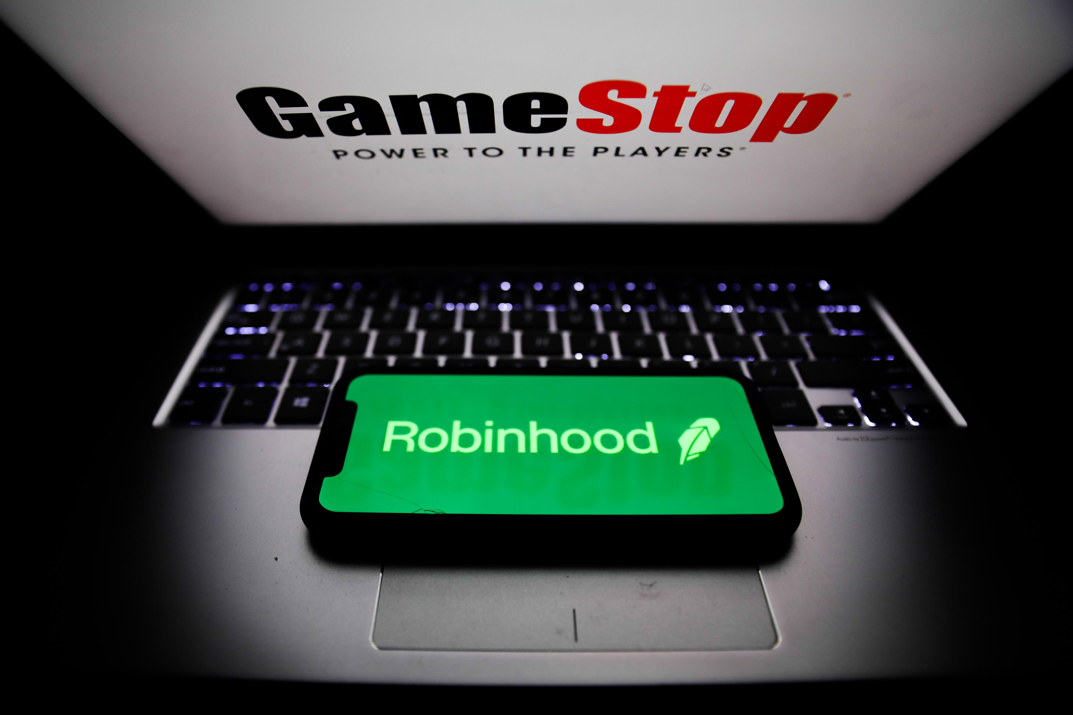 GameStop and Robinhood logos