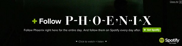 A look at the Spotify Phoenix ad.