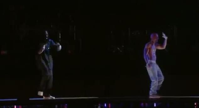 Snoop Dogg and hologram