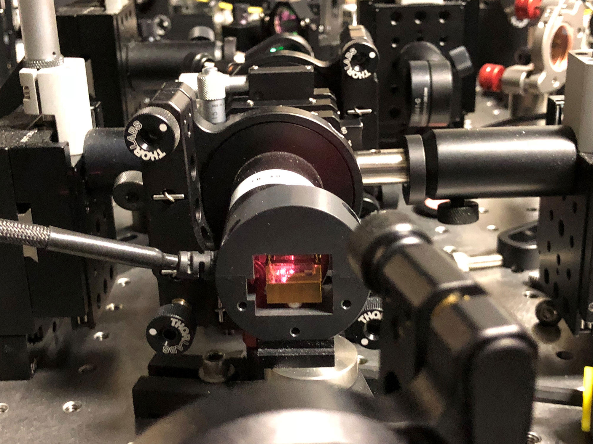 Part of NIST's system for generating provably random numbers through the weird nature of quantum physics.