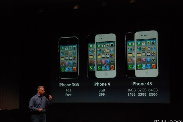 iPhone 4S pricing