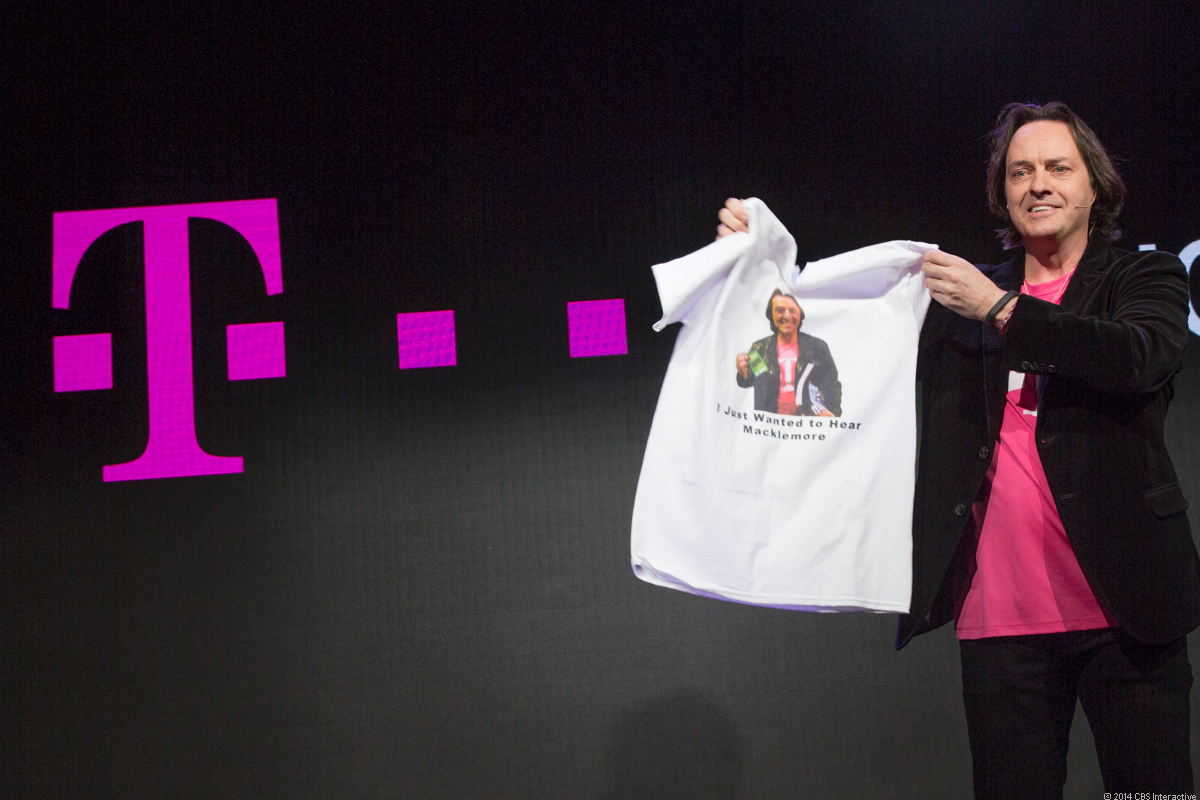CEO John Legere takes the stage