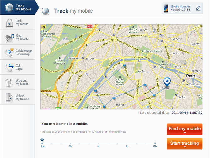 Track and control remotely