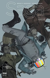 Saga No. 12 was temporarily on the outs with comic book app publisher Comixology.