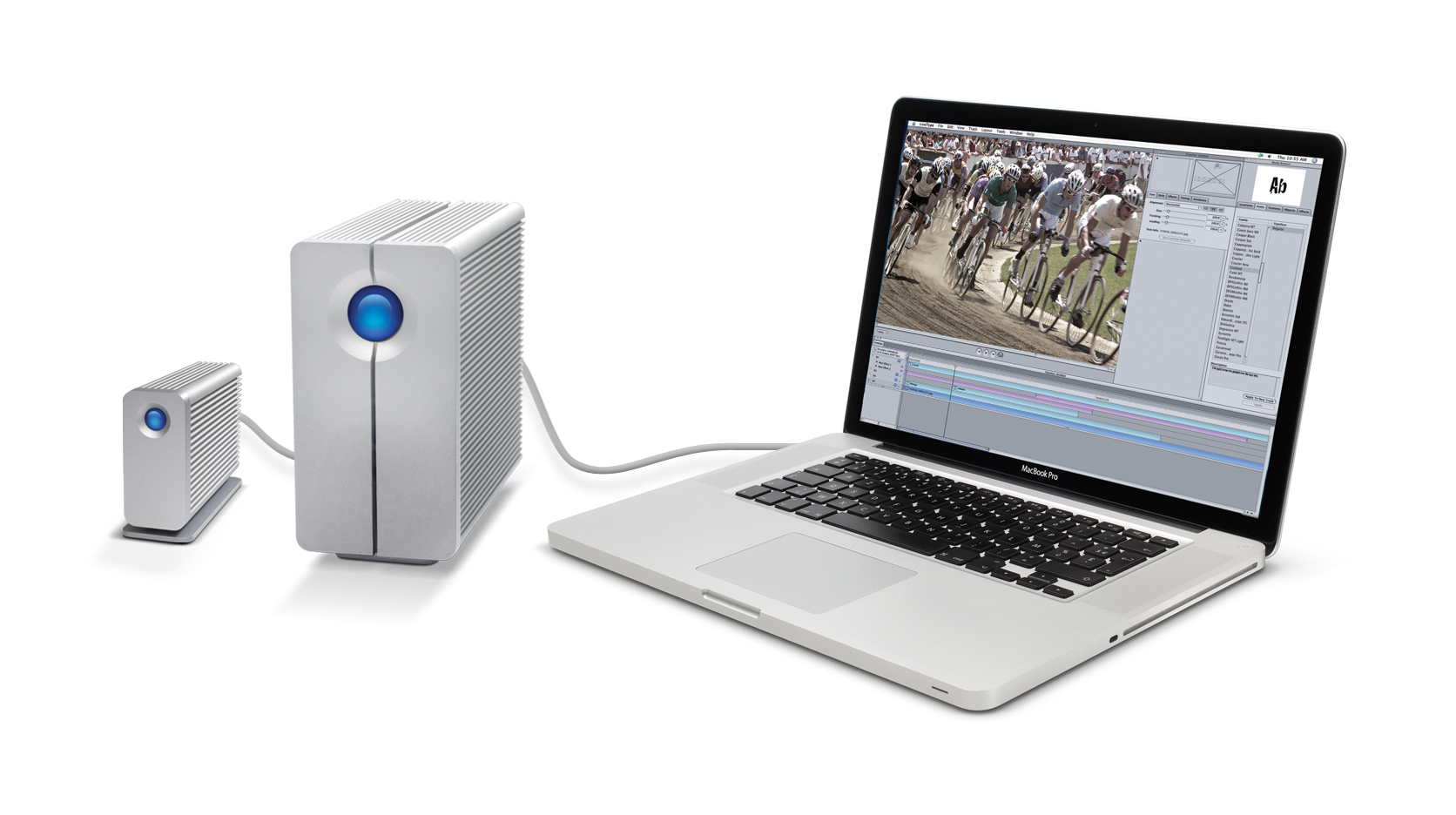 LaCie's Thunderbolt family of external hard drives now includes both the Little Big Disk and the LaCie 2big.