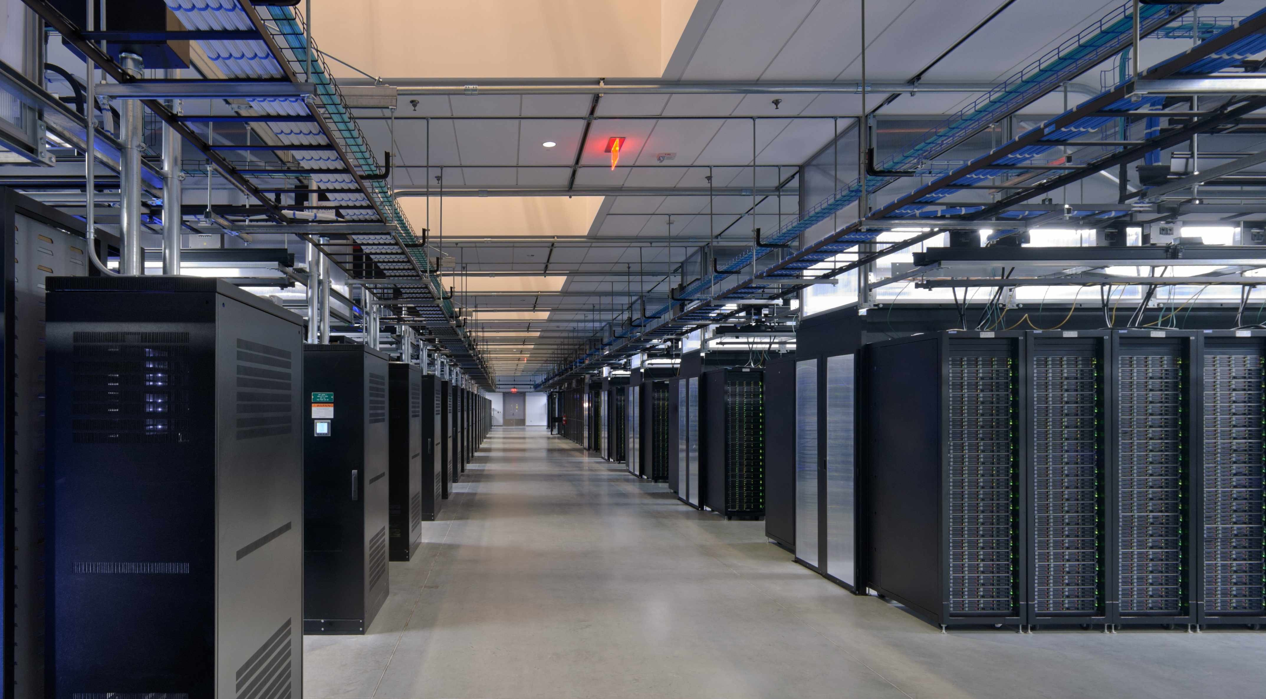 A Facebook data center. The company uses outdated Web encryption, which makes users' communications vulnerable to the National Security Agency. But the social network is planning to upgrade.