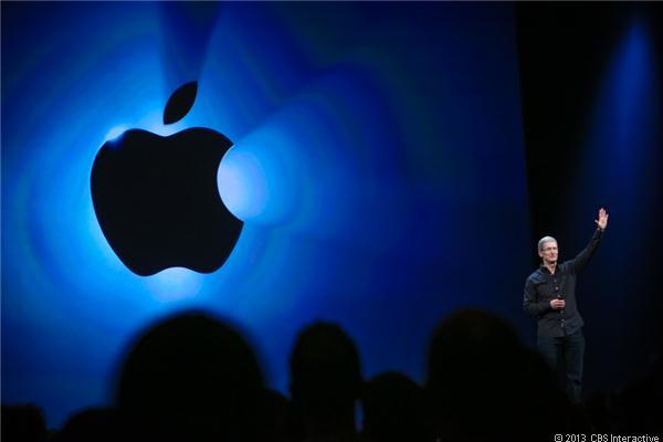 Apple CEO Tim Cook at WWDC in June.