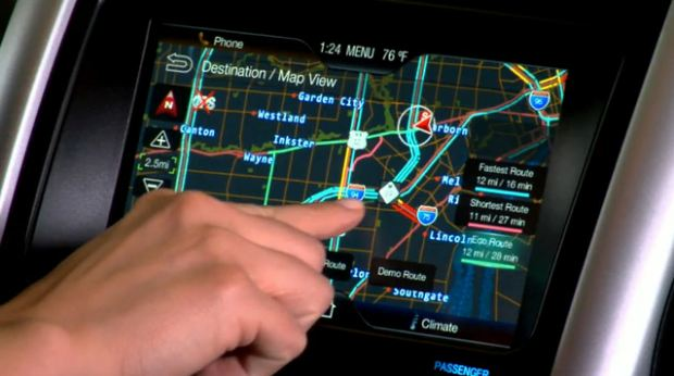 Ford Navigation interface