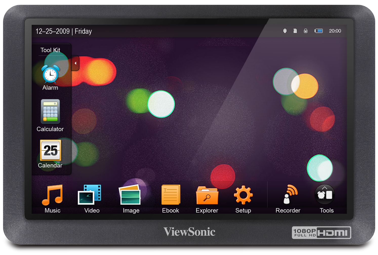 Photo of the Viewsonic MovieBook VPD550T portable video player.