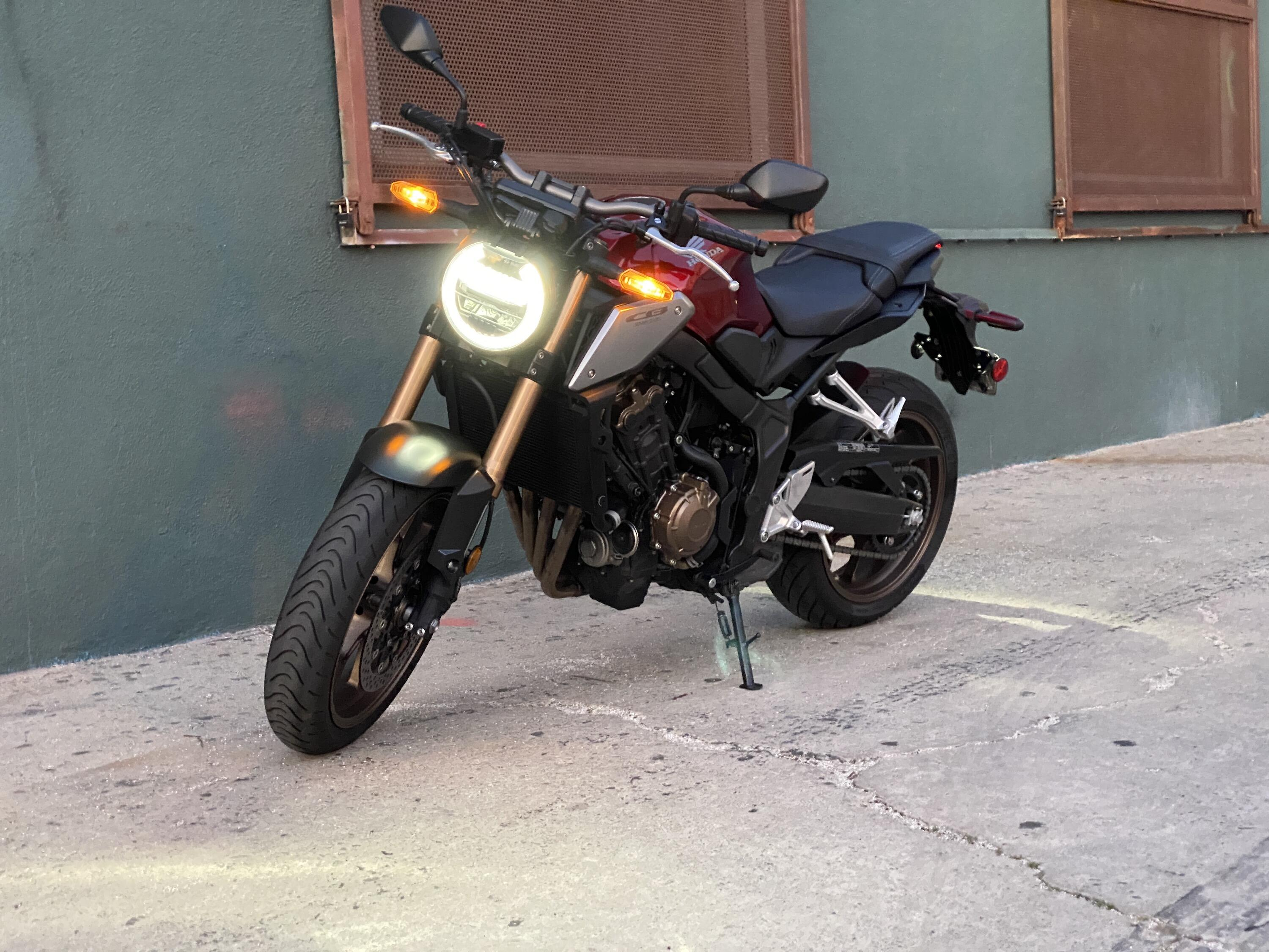 <p>It's not a big bike, but thanks to a classic-feeling 649-cc inline-four, it's still huge fun.</p>