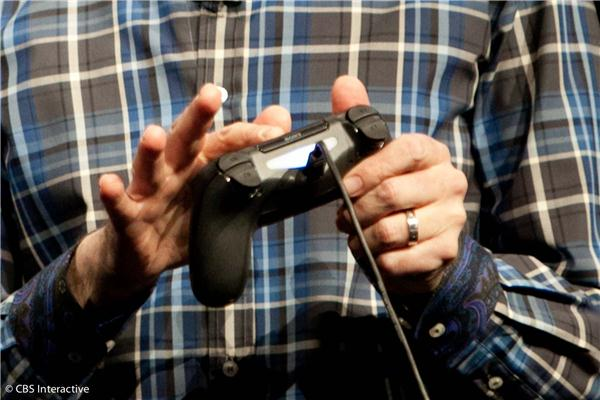 Sony's lead system architect Mark Cerny demos the touchpad on the new PS4 controller.