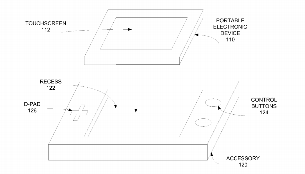 The gadget pictured in a 2008 patent application.