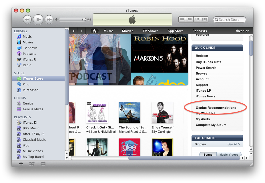iTunes Store Front Page