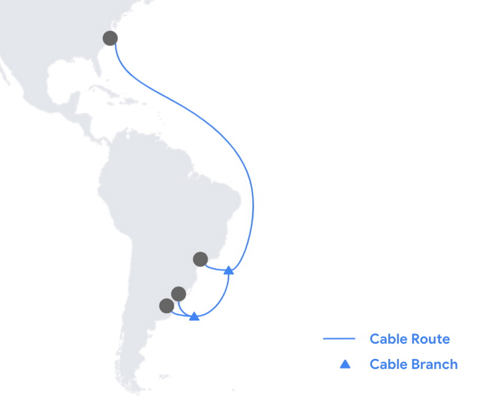 Firmina subsea cable route